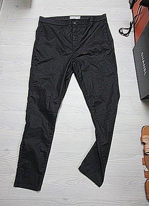 Topshop Joni High Waist Hose beschichteter Look W36 L30