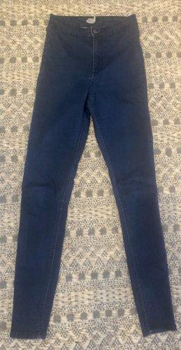 Topshop Jeans skinny bleu-bleu foncé