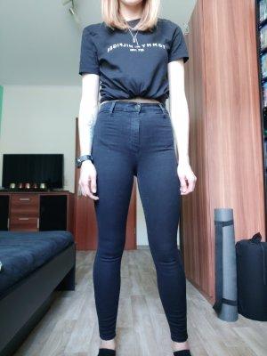 Topshop High Waist Jeans black