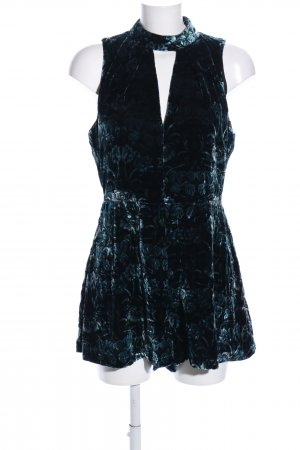 Topshop Jumpsuit blau Allover-Druck Elegant