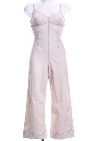 Topshop Jumpsuit creme Street-Fashion-Look
