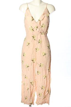 Topshop Jumpsuit creme Blumenmuster Elegant