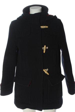 Topshop Cappotto con cappuccio nero stile casual