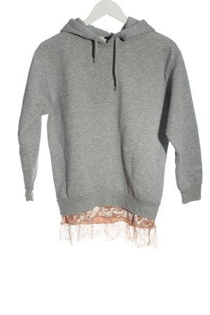 Topshop Kapuzensweatshirt hellgrau-nude meliert Casual-Look