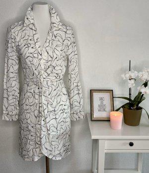 Topshop Robe à manches longues blanc-noir