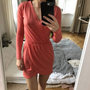 Topshop Cocktail Dress bright red-salmon