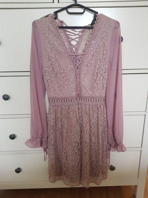 Topshop Longsleeve Dress dusky pink