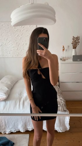 Topshop Kleid Bandeau Bodycon Party Cut Out Schwarz