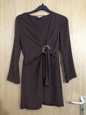 Topshop Robe courte brun foncé