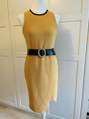 Topshop Kleid gelb Gr 38 blogger Etui dress