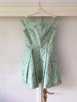 Topshop Kleid - schulterfrei, mit barockem Muster und Taschen