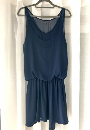 Topshop Kleid Sommerkleid kurzes Kleid blaues Kleid Minikleid Cocktailkleid Abendkleid 30er Jahre