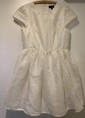 Topshop Kleid, weiß mit Glitzer, Größe 38-40