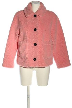 Topshop Fake Fur Jacket pink casual look