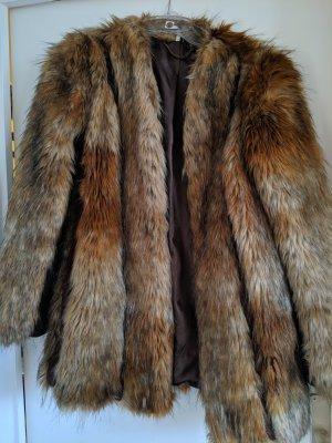 Topshop Giacca in eco pelliccia multicolore