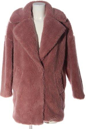 Topshop Fake Fur Coat pink casual look