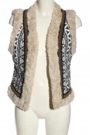 Topshop Fake Fur Vest abstract pattern elegant