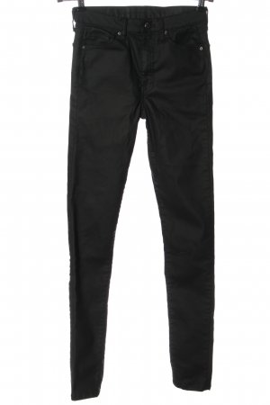 Topshop Faux Leather Trousers black casual look