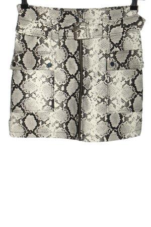 Topshop Spódnica z imitacji skóry Na całej powierzchni W stylu casual