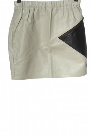 Topshop Faux Leather Skirt light grey-black casual look