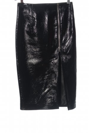 Topshop Gonna in ecopelle nero stile casual