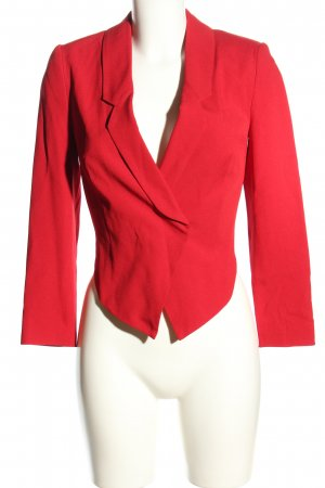 Topshop Kurz-Blazer rot Business-Look