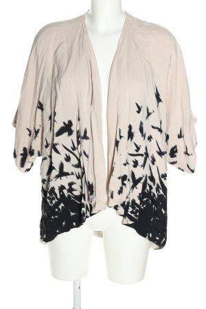 Topshop Kurz-Blazer weiß-schwarz abstraktes Muster Casual-Look