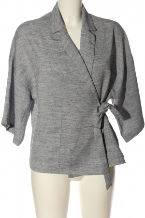 Topshop Wraparound Jacket light grey flecked casual look