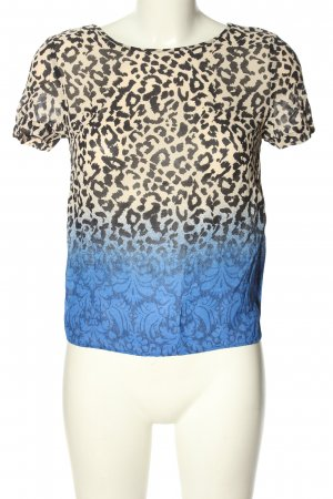 Topshop Kurzarm-Bluse abstraktes Muster Casual-Look