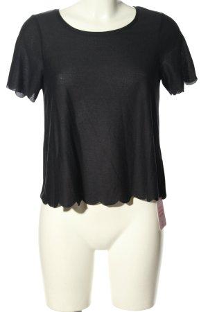 Topshop Kurzarm-Bluse schwarz klassischer Stil