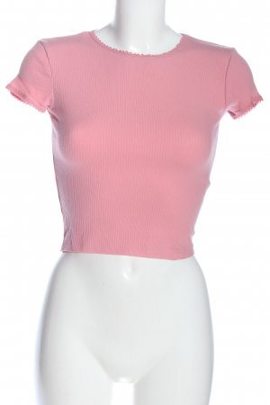 Topshop Cropped Shirt pink casual look