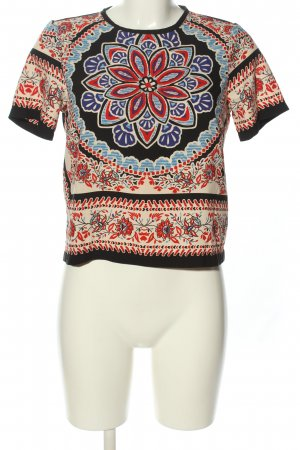 Topshop Short Sleeved Blouse themed print casual look