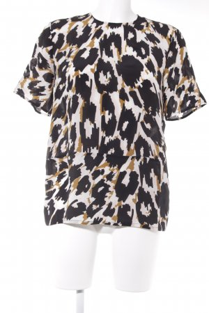 Topshop Kurzarm-Bluse abstraktes Muster Business-Look