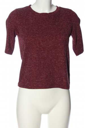 Topshop Kurzarm-Bluse rot Casual-Look