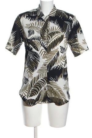 Topshop Kurzarm-Bluse abstraktes Muster Casual-Look