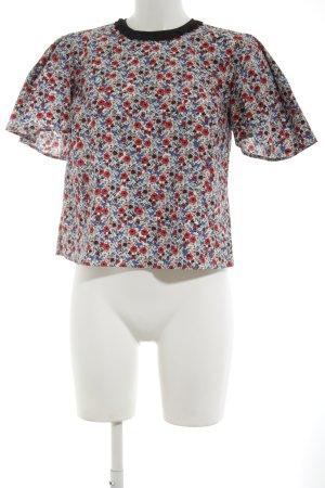 Topshop Kurzarm-Bluse Blumenmuster Casual-Look