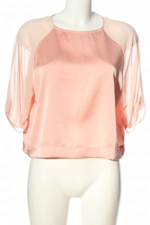 Topshop Kurzarm-Bluse pink Casual-Look