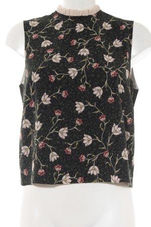 Topshop Kurzarm-Bluse florales Muster Elegant