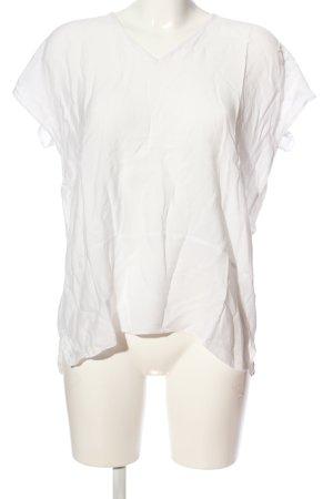 Topshop Kurzarm-Bluse weiß Casual-Look