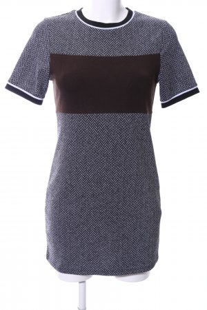 Topshop Kurzarmkleid Allover-Druck Business-Look