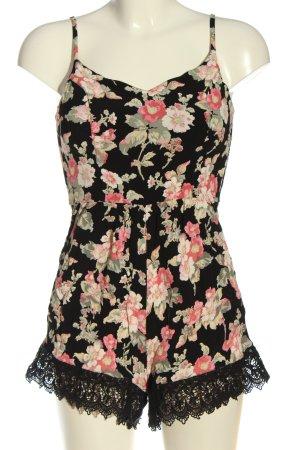 Topshop Kurzer Jumpsuit flower pattern casual look