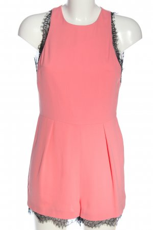 Topshop Kurzer Jumpsuit pink-schwarz Casual-Look