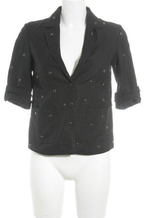 Topshop Kurzjacke schwarz-silberfarben Street-Fashion-Look