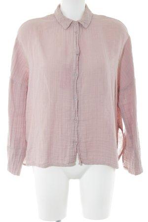Topshop Langarm-Bluse pink Casual-Look