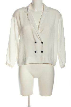 Topshop Langarm-Bluse weiß-schwarz Elegant