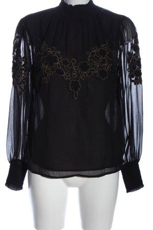 Topshop Langarm-Bluse schwarz Casual-Look