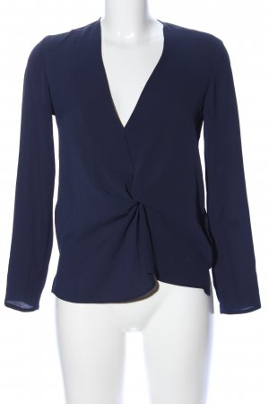 Topshop Langarm-Bluse blau Business-Look