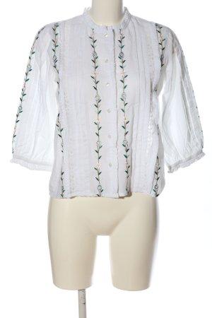 Topshop Langarm-Bluse Blumenmuster Casual-Look