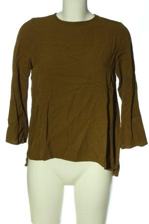 Topshop Langarm-Bluse braun Casual-Look