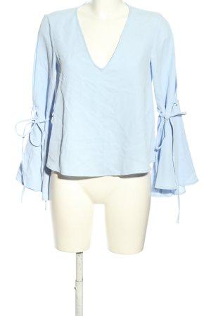 Topshop Langarm-Bluse blau Elegant